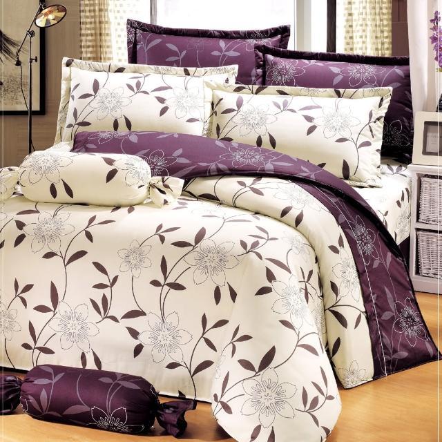 【艾莉絲-貝倫】花香樂譜(3.5呎x6.2呎)五件式單人(100%純棉)鋪棉床罩組(米色)