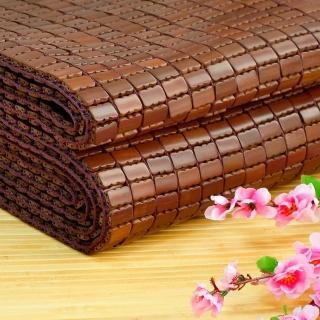 【雅曼斯Amance】專利棉織帶碳化天然麻將竹蓆/涼蓆-雙人5尺(鬆緊帶款)