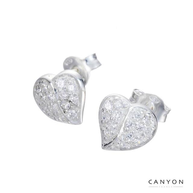 【CANYON】閃亮愛心貼式耳環