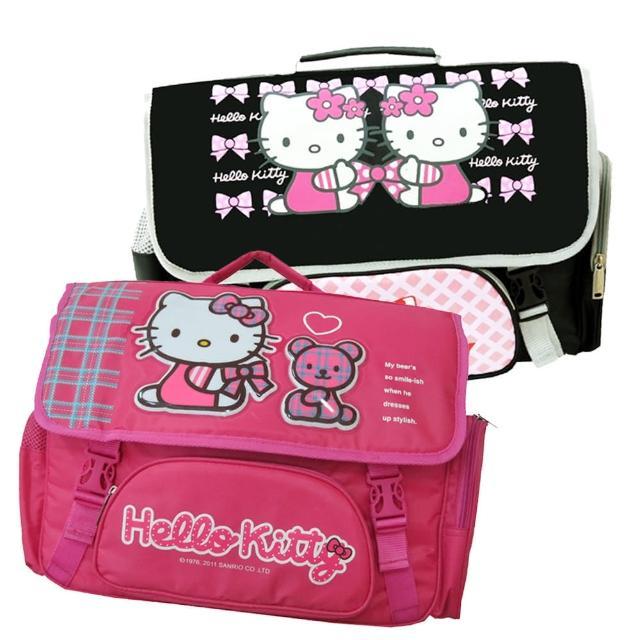 【凱蒂貓Hello Kitty】橫式書背包(桃/黑_3款KT3049)