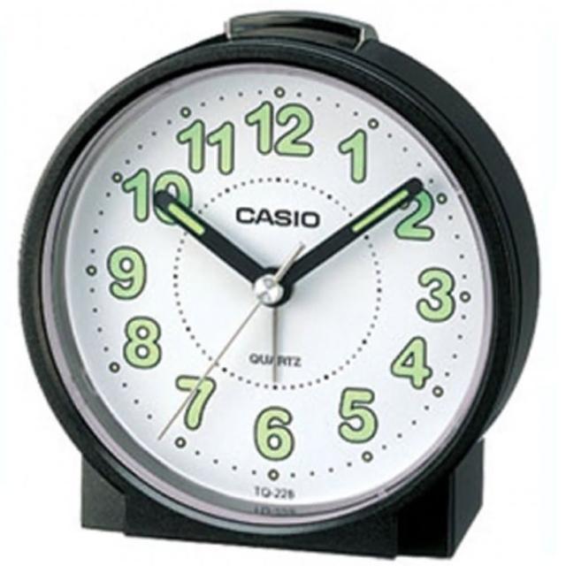 【CASIO 卡西歐】桌上型指針鬧鐘-黑(TQ-228-1DF)