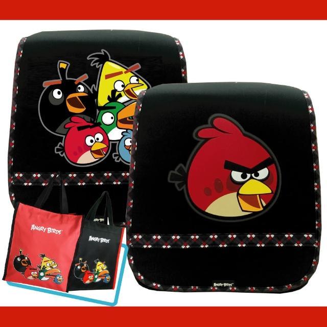 【Angry Birds 憤怒鳥】1+1日式護脊書背包+直立式手提袋(AB2)