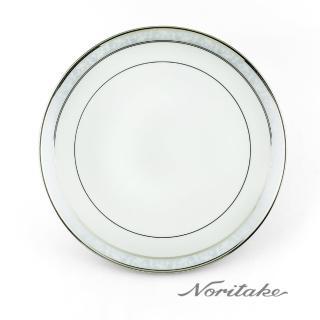 ~NORITAKE~花舞春風銀邊淺圓盤^(銀~27cm^)
