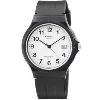 【CASIO】卡西歐薄型日誌石英錶-白(MW-59-7B)