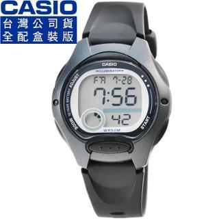 【CASIO】卡西歐鬧鈴多時區兒童電子錶-黑(LW-200-1B)