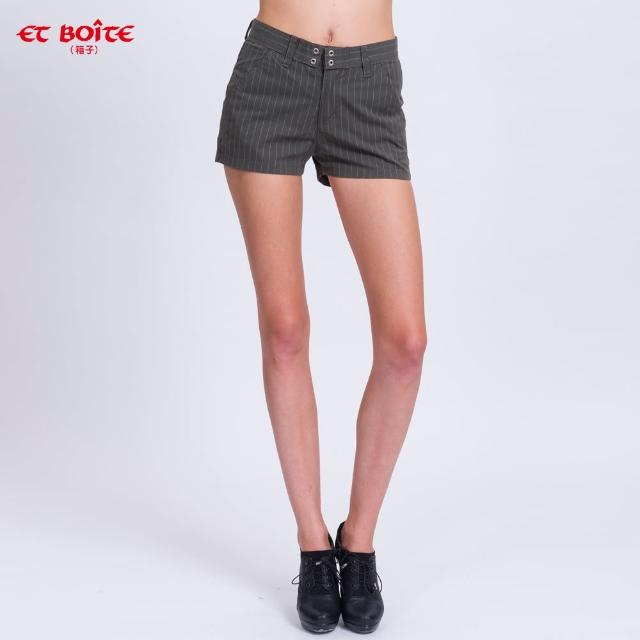 【ET BOiTE 箱子】斜袋條紋短褲