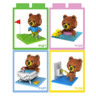 【LOZ】鑽石積木 9427 - 9430 布朗熊生活篇系列 益智玩具
