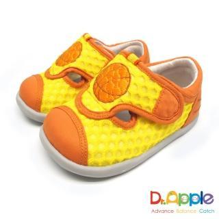 【Dr. Apple 機能童鞋】一起玩吧!熱血籃球休閒小童涼鞋(黃)