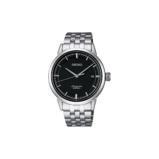 【SEIKO】Presage 時尚極簡機械腕錶-黑/39mm(6R15-02Y0D SARX023J)