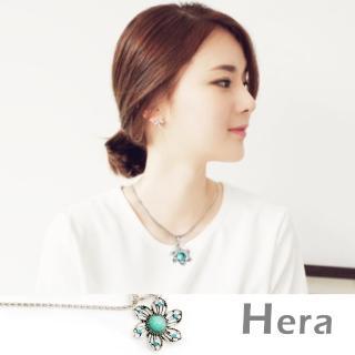 【Hera】赫拉 波西米亞系列鏤空水鑽項鍊/ 鎖骨鍊(六葉花朵)