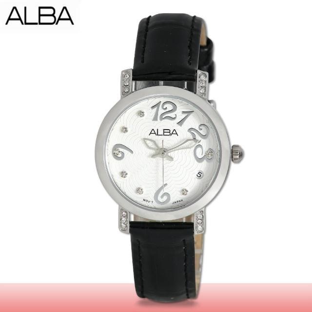 【SEIKO 精工 ALBA 系列】送禮首選 石英晶鑽指針女錶 鏡面2.5公分(AG8453X1)
