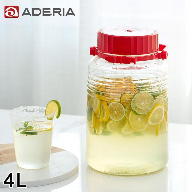 【ADERIA】日本進口手提式玻璃瓶4L