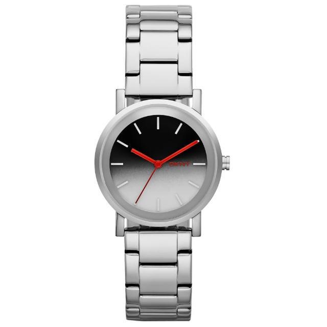 【DKNY】紐約風格時尚三針腕錶-漸層色x銀(NY2183)