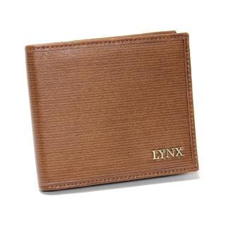 【Lynx】復古風真皮男士5卡短夾(兩色)