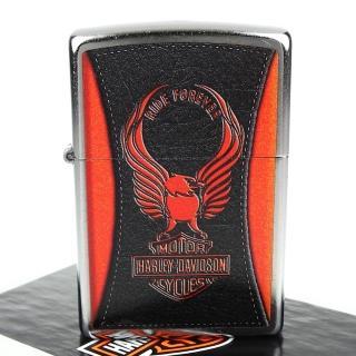 【ZIPPO】哈雷-Harley-Davidson-經典老鷹圖案設計打火機