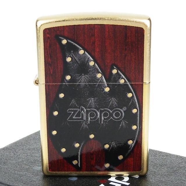 【ZIPPO】美系-Leather Flame-皮革火焰圖案設計打火機