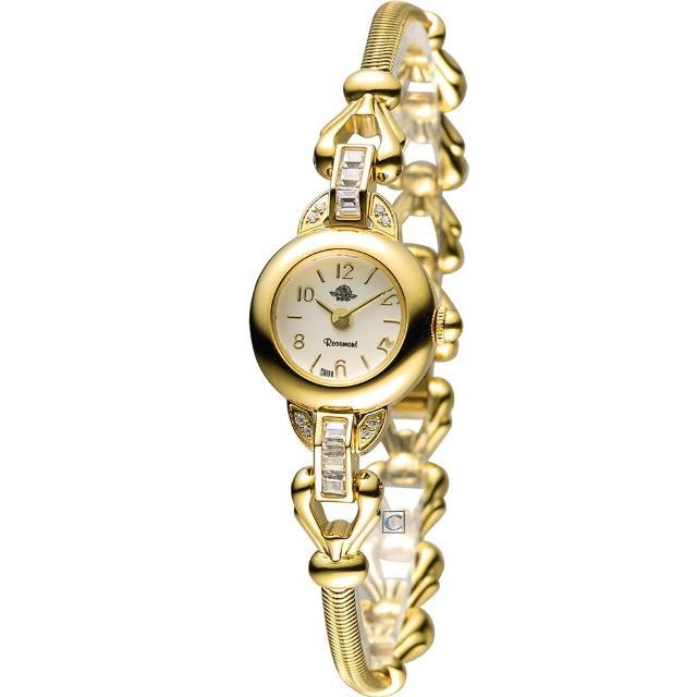 【Rosemont 玫瑰錶】藤蔓玫瑰系列II時尚腕錶(TRS-031-01MT 金色)