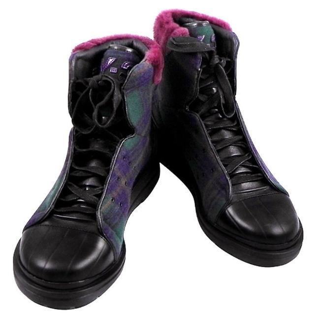 【Y-3山本耀司】雙色拼接中筒造型靴-蘇格蘭紋(男款US 7.5-10號)
