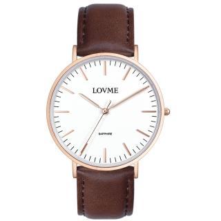 【LOVME】城市簡約風婉錶-IP玫x咖啡帶/41mm(VL0012M-4C-241)
