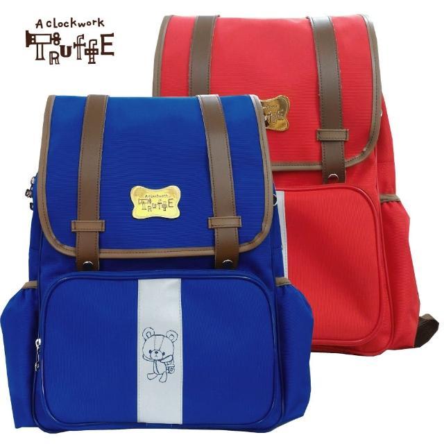 【發條小熊TRUFFE】MIT高級護脊書背包(寶藍/西瓜紅 TF-5692)