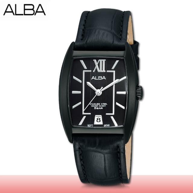 【SEIKO 精工 ALBA 系列】送禮首選 皮革石英指針女錶 鏡面3x2.8公分(AG8469X1)