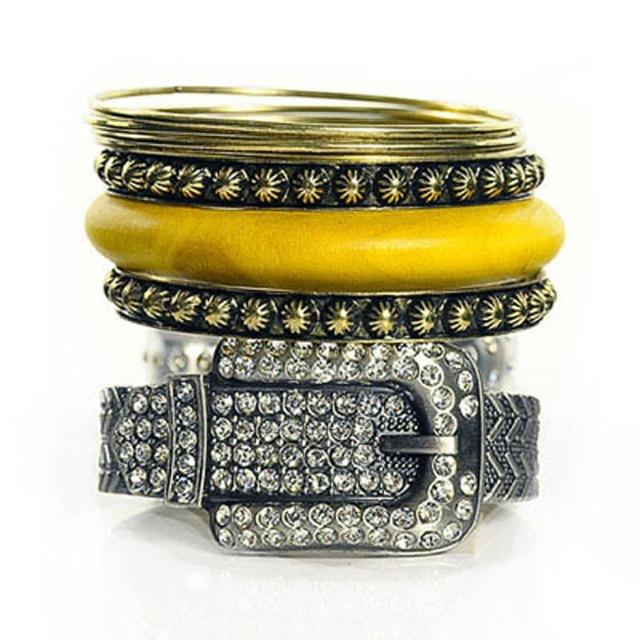 【Lady c.c.】華麗錶帶古董多層次手環(灰)