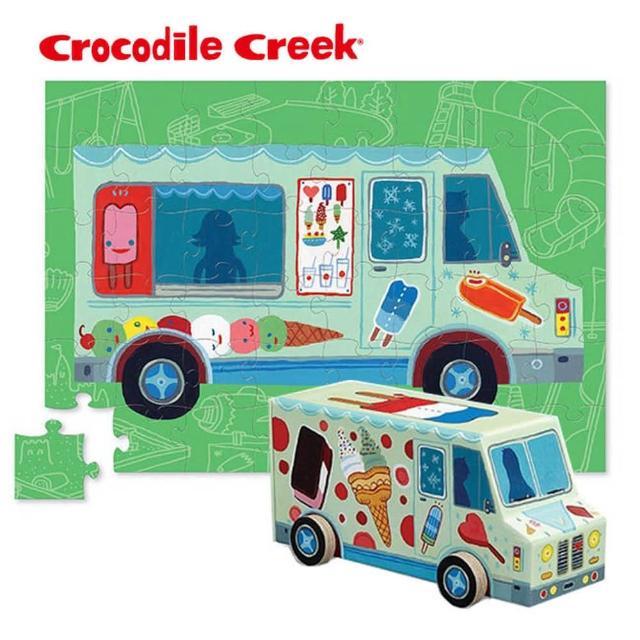 【美國Crocodile Creek】汽車造型盒拼圖系列-48片多款選擇(新春玩具節大推薦)