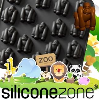 【Siliconezone】施理康ZOO耐熱黑猩猩巧克力模/冰模(黑色)