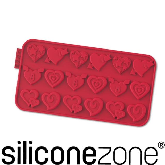 【Siliconezone】施理康耐熱矽膠愛情巧克力模(紅色)