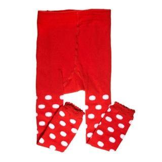 【美國 juDanzy】內搭褲襪_紅白點點(957)
