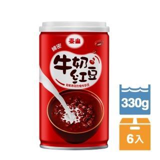 【泰山】綿密牛奶紅豆330g(6入/組)