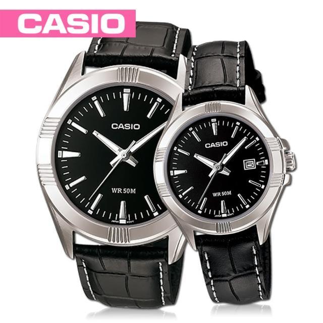 【CASIO 卡西歐】甜蜜浪漫石英對錶(MTP-1308L+LTP-1308L)