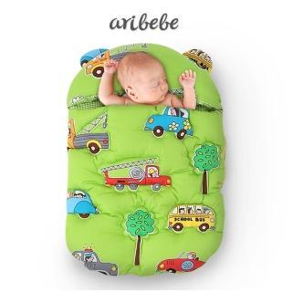 【韓國 ARIBEBE】韓國手工嬰兒睡袋/寶寶保暖防踢被包巾抱被抱毯(車車)