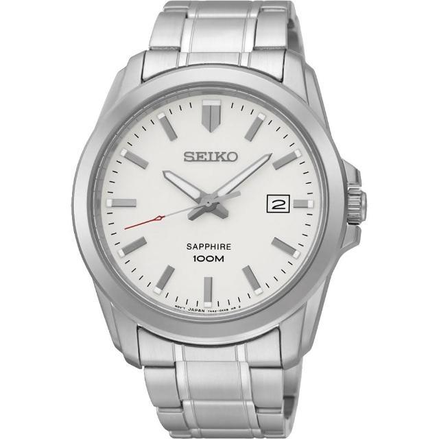【SEIKO】CS系列大三針石英錶-銀白/41mm(7N42-0GD0S SGEH45P1)