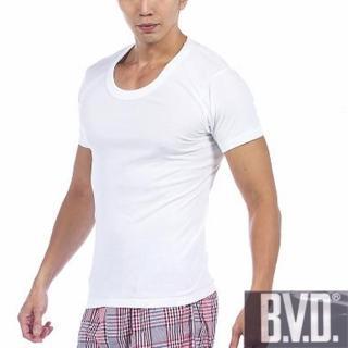 【BVD】時尚型男純棉U領短袖內衣(5件組)