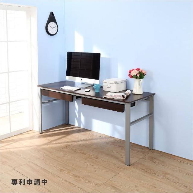 【BuyJM】低甲醛防潑水160公分雙抽屜穩重型工作桌