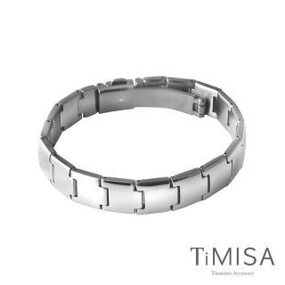 【TiMISA】雅緻時尚 純鈦鍺手鍊(18公分)