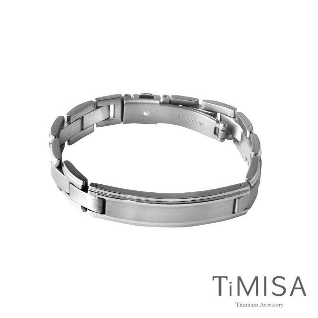 【TiMISA】純粹品味 純鈦鍺手鍊(寬版)