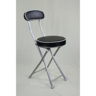 【BROTHER 兄弟牌】丹堤有背折疊椅2入裝(黑色)