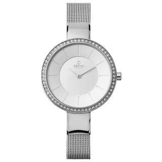【OBAKU】采麗時刻晶鑽米蘭時尚腕錶-銀(V179LECIMC)