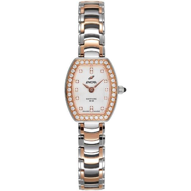 【ENICAR 英納格】CH131真女系列石英鍊帶女錶-雙色版/20mm(262-30-131GS)