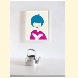 【摩達客】西班牙知名插畫家Judy Kaufmann藝術創作海報掛畫裝飾畫-和平(附本人簽名 含木框)