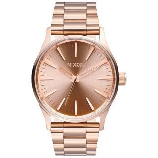 【NIXON】SENTRY 38 SS 極簡復刻化時尚腕錶-玫瑰金(A450897)