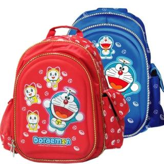【哆啦A夢】日式硬殼護脊書背包(藍/紅_DO4008)