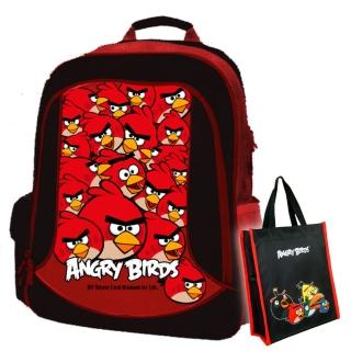 【Angry Birds憤怒鳥】1+1護脊書背包_共6款+萬用手提袋(AB6)