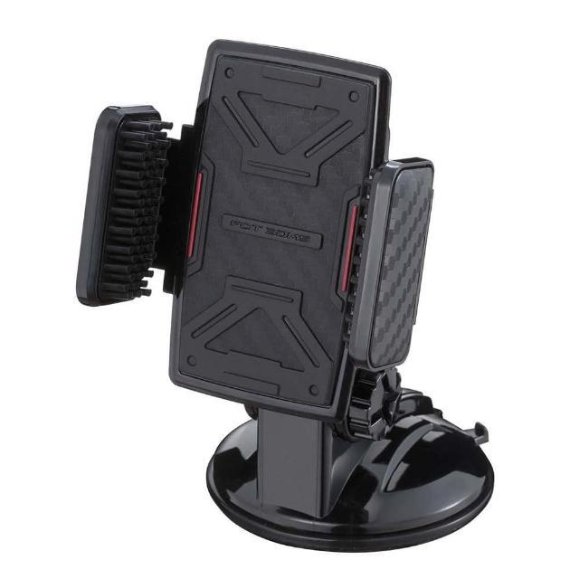 【NAPOLEX】3D吸盤式手機架(碳纖黑)