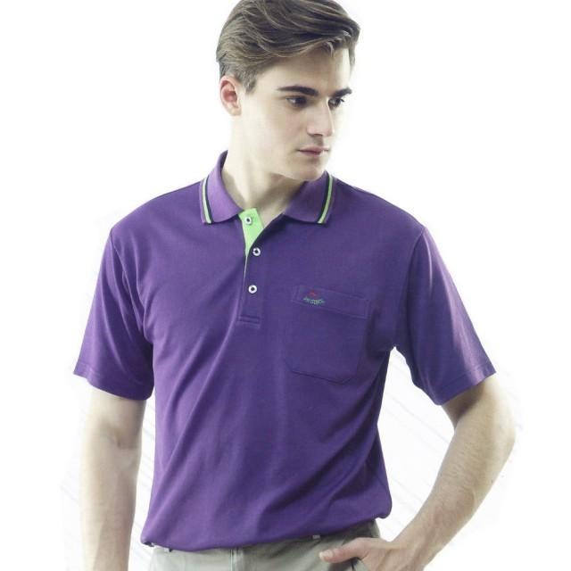 【per GIBO】吸溼排汗男版短POLO衫-紫(PT121902)