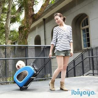 ~IBIYAYA依比呀呀~五彩繽紛寵物拉桿後背包~寶藍海洋 FC1008