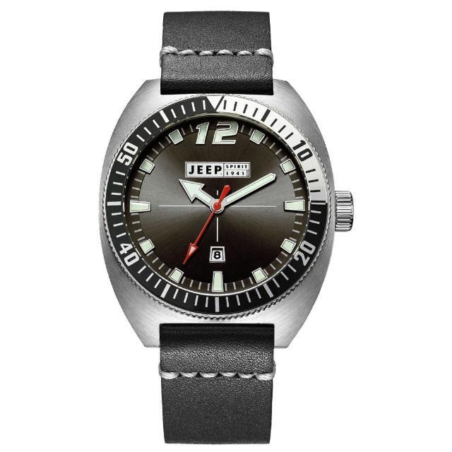 【Jeep Spirit】美國指標美式復古風腕錶-銀X黑色(JPS50202)