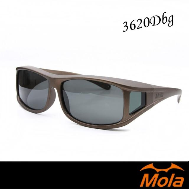 【MOLA 摩拉】外罩式偏光太陽眼鏡 套鏡 鏡中鏡 近視/老花眼鏡族可戴-(3620Dbg)